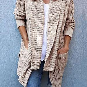 Sweaters - Plus Size Slouchy Oversized Cardigan